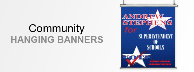 Image: Community hanging banners