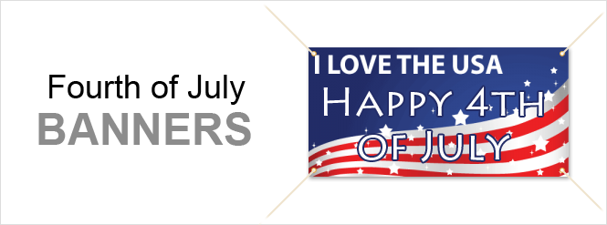 Image: Fourth of July banners