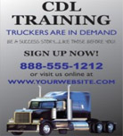 Image: CDL Training Hanging Banner Template