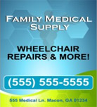 Image: Medical Supply Hanging Banner Template