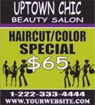 Image: Beauty Salon Hanging Banner Template