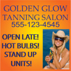 Tanning Salon Window Decal