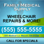 Medical Supply Window Decal