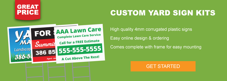 Custom Yard Sign Kits