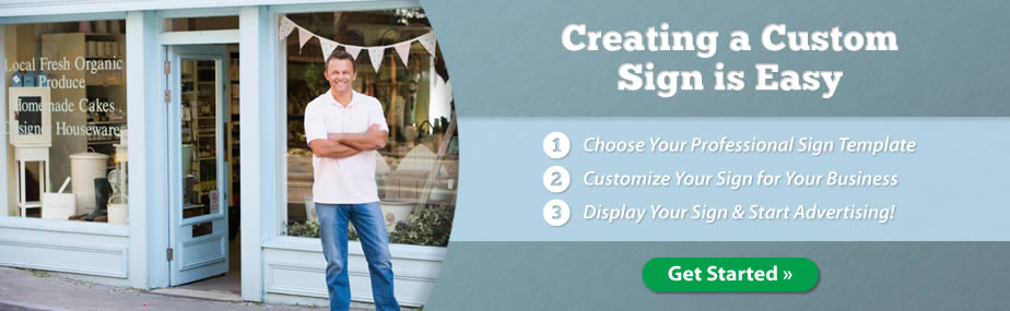 Easily create a custom sign