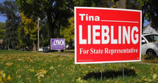 Image: Yard Sign beside roadway