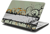 Curly Q Laptop Skin
