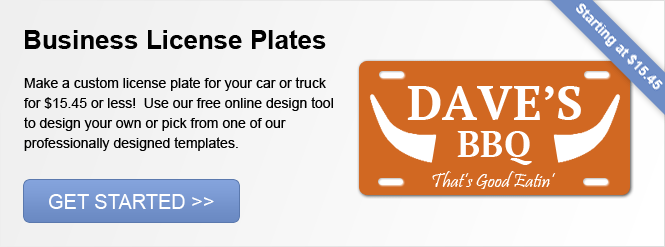 Image: Business License Plates!
