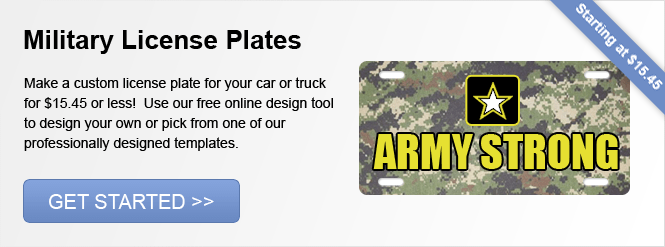 Image: Military License Plates!