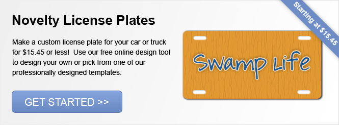 Image: Novelty License Plates!