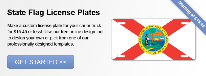 Image: State Flags License Plates!