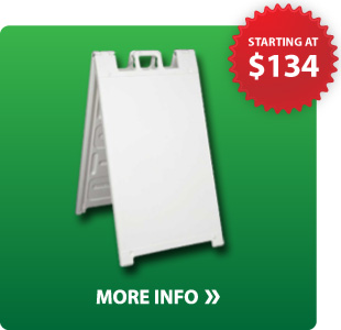 Plastic frame sidewalk sign kit info