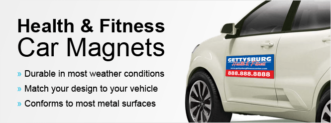 Image: Health and Fitness Car Magnets!
