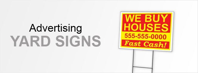 Image: Advertising Yard Signs!