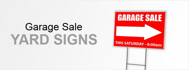 Image: Garage Sale Yard Signs!