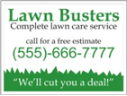 Image: Lawn Care Template