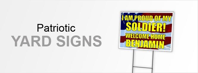 Image: Patriotic Yard Signs!