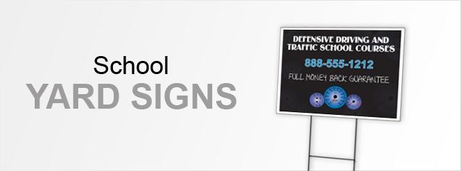 Image: School Yard Signs!