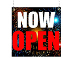 Image: Now Open Window Sign