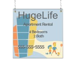 Image: Apartment Rental Window Sign