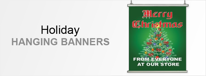 Image: Holiday hanging banners