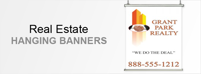 Image: Real estate hanging banners