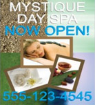 Image: Day Spa Hanging Banner Template