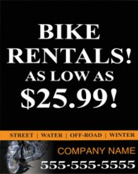 Image: Bike Rental Pole Banner Template