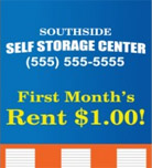 Image: Self Storage Hanging Banner Template