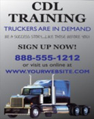 Image: CDL Training Pole Banner Template