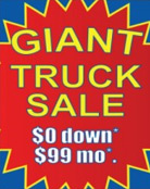 Image: Truck Sale Pole Banner Template