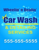 Image: Car Wash Pole Banner Template