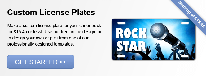 Image: Custom License Plates!