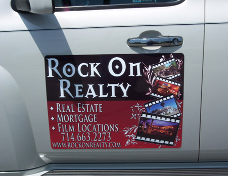 Car magnets for realtor