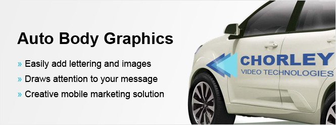 Image: Auto body graphics draw attention!