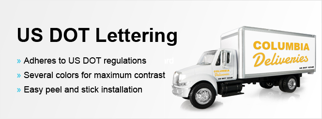 Image us dot lettering for your commercial trucks