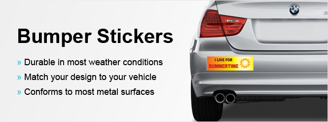 Get Custom Bumper Stickers At SpeedySignscom - Custom car bumper stickers