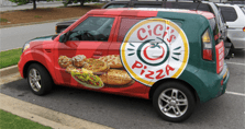Image: Vehicle wrap for restaurant fleet vehicle