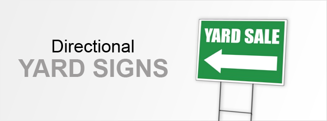 Image: Directional Yard Signs!