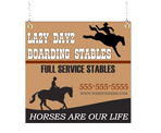 Image: Boarding Stables Window Sign