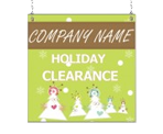 Image: Holiday Clearance Window Sign