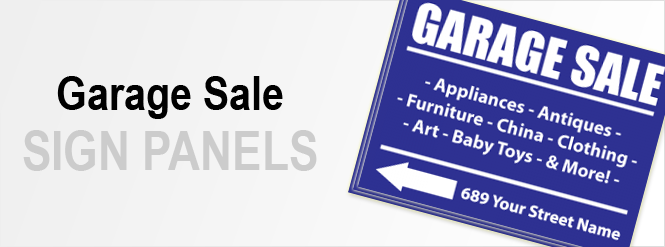 Image: Garage Sale Sign Panels!